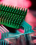 An illustrative photograph of two computer heat sinks
