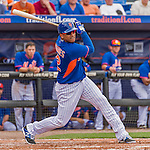 8 March 2015: New York Mets outfielder Juan Lagares in Spring Training action against the Boston Red Sox at Tradition Field in Port St. Lucie, Florida. The Mets fell to the Red Sox 6-3 in Grapefruit League play. Mandatory Credit: Ed Wolfstein Photo *** RAW (NEF) Image File Available ***