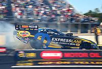 Mar 17, 2017; Gainesville , FL, USA; NHRA funny car driver Matt Hagan during qualifying for the Gatornationals at Gainesville Raceway. Mandatory Credit: Mark J. Rebilas-USA TODAY Sports