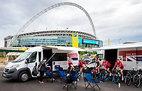 Picture by Alex Whitehead/SWpix.com - 16/05/2017 - Cycling - Tour Series Round 4, Wembley - Matrix Fitness Grand Prix. Team Breeze warm-up.