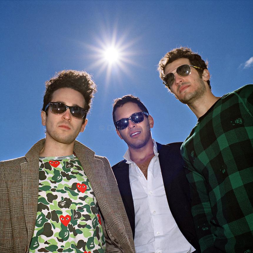 Rap Genius creators Tom Lehman, 28, Mahbod Moghadam, 29, and Ilan Zechory, 28, at their headquarters in Williamsburg. ..Danny Ghitis for The New York Times