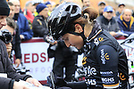 Elisa Longo Borghini (ITA) Wiggle High5 team at sign on before the start of the Ladies 2017 Strade Bianche running 127km from Siena to Siena, Tuscany, Italy 4th March 2017.<br /> Picture: Eoin Clarke | Newsfile<br /> <br /> <br /> All photos usage must carry mandatory copyright credit (&copy; Newsfile | Eoin Clarke)