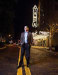 Florida attorney Bill Schifinio in front of the Tampa Theatre in Tampa, Florida  March 25, 2016.