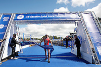Photo: Richard Lane/Richard Lane Photography. GE Strathclyde Park Triathlon. 22/05/2011. Elite Men winner, Tim Don crosses the line to win.