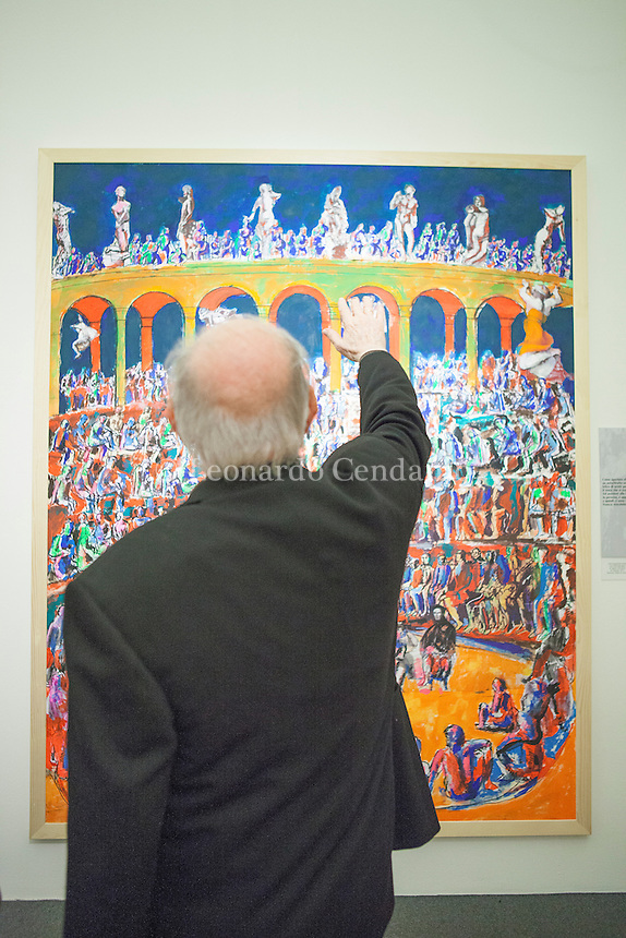 Dario Fo, lazzi, sberleffi dipinti, a Milano Palazzo Reale. © Leonardo Cendamo