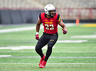 College Park, MD - APR 22, 2016: Maryland Terrapins linebacker Isaiah Davis (22) in action during the 2017 Spring game at Capital One Field at Maryland Stadium in College Park, MD. (Photo by Phil Peters/Media Images International)