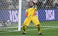 FUSSBALL WM 2014                HALBFINALE Niederlande - Argentinien       09.07.2014 Torwart Sergio Romero (Argentinien) jubelt