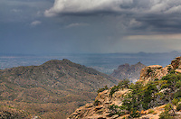 A storm near Tucson, view from Mt. Lemmon