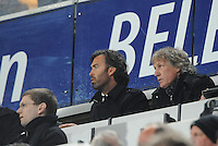 VOETBAL: HEERENVEEN: Abe Lenstra Stadion, 26-04-2013, Eredivisie 2012-2013, SC Heerenveen - AZ, Eindstand 0-4, Gert Jan Verbeek op de tribune, ©foto Martin de Jong