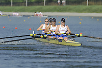 Brest, Belarus.  GBR BW4-, Bow, Jenny ARNOLD, Monica RELPH, Lottie HOWARD-MERRILL and Polly SWANN, at the start.  2010. FISA U23 Championships. Thursday,  22/07/2010.  [Mandatory Credit Peter Spurrier/ Intersport Images]