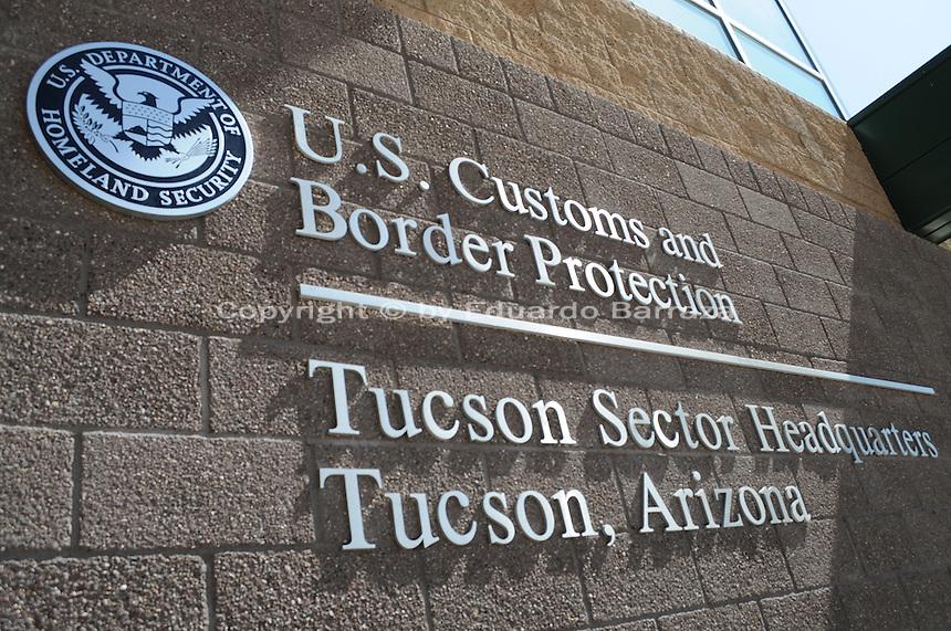Tucson, Arizona - The Tucson Sector Headquarters of the U.S. Customs and Border Protection, in Tucson, Arizona. Stations of the Tucson Sector are located in Ajo, Casa Grande, Douglas, Naco, Nogales, Sonoita, Tucson, and Willcox, Arizona. Photo by Eduardo Barraza © 2012