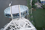 River Thames South Bank from the London Eye