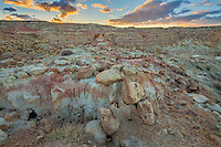 Bobcat Draw Wilderness in the Bighorn Basin of Wyoming at sunset