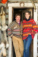 The Hicker family, Wiseman, Alaska