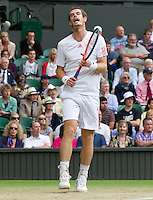 Andy Murray..Tennis - Grand Slam - The Championships Wimbledon - AELTC - The All England Club - London - Wed July 4th 2012. .© AMN Images, 30, Cleveland Street, London, W1T 4JD.Tel - +44 20 7907 6387.mfrey@advantagemedianet.com.www.amnimages.photoshelter.com.www.advantagemedianet.com.www.tennishead.net