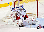 27 March 2007: New York Rangers goaltender Stephen Valiquette makes a save against the Montreal Canadiens at the Bell Centre in Montreal, Quebec, Canada...Mandatory Photo Credit: Ed Wolfstein Photo *** Editorial Sales through Icon Sports Media *** www.iconsportsmedia.com
