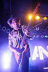 Awolnation's lead guitarist Christopher Thorn performing at Pop's in Sauget, IL on January 21, 2012.