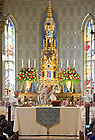 Aug. 16. 2013; Most Rev. Bishop Daniel Jenky, C.S.C., Bishop of Peoria, IL, celebrates Mass in honor of the 125th anniversary of the consecration of the Basilica of the Sacred Heart.<br /> <br /> Photo by Matt Cashore/University of Notre Dame