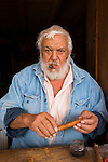 Cigar maker, San Sebastian del Oeste, Mining town near Puerto Vallarta, Jalisco, Mexico