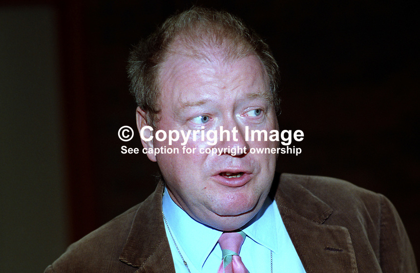 Lord McAlpine, Life Peer, Conservative Party, UK, taken annual conference October 1992. 19921059LMA2..Copyright Image from Victor Patterson, 54 Dorchester Park, Belfast, UK, BT9 6RJ..Tel: +44 28 9066 1296.Mob: +44 7802 353836.Voicemail +44 20 8816 7153.Skype: victorpattersonbelfast.Email: victorpatterson@me.com.Email: victorpatterson@ireland.com (back-up)..IMPORTANT: If you wish to use this image or any other of my images please go to www.victorpatterson.com and click on the Terms & Conditions. Then contact me by email or phone with the reference number(s) of the image(s) concerned.