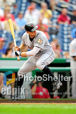 23 September 2010: Houston Astros outfielder Hunter Pence in action against the Washington Nationals at Nationals Park in Washington, DC. The Nationals defeated the Astros 7-2 for their third consecutive win, taking the series three games to one. Mandatory Credit: Ed Wolfstein Photo