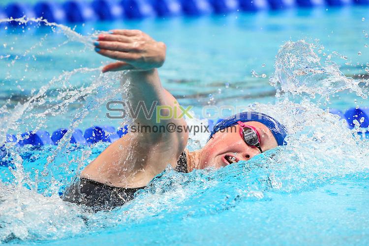 Picture by Alex Whitehead/SWpix.com - 06/08/2015 - Swimming - 16th FINA World Swimming Championships 2015 - Kazan Arena Stadium, Kazan, Russia - Great Britain's Hannah Miley competes in the Women's 4x200m Relay heats.