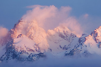 &quot;MAGIC MOUNTAINS&quot; - The Teton Range at dawn after a fresh snowstorm clears.