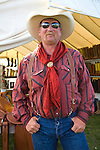 Cowboy with red rag, Jordan Valley Big Loop Rodeo..