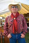 Cowboy with red rag, Jordan Valley Big Loop Rodeo..