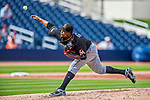 1 March 2017: Miami Marlins pitcher Edinson Volquez on the mound during Spring Training action against the Houston Astros at the Ballpark of the Palm Beaches in West Palm Beach, Florida. The Marlins defeated the Astros 9-5 in Grapefruit League play. Mandatory Credit: Ed Wolfstein Photo *** RAW (NEF) Image File Available ***