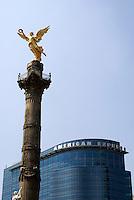 The Angel Monument or Monumento a la Indepenndencia  on Paseo de la Reforma, Mexico City