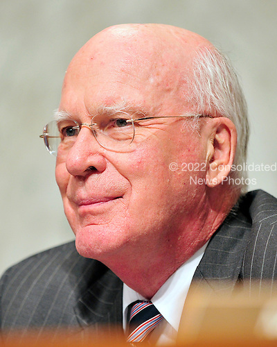 United States Senator Patrick Leahy (Democrat of Vermont), Chairman, U.S. Senate Judiciary Committee, listens to the testimony of U.S. Solicitor General Elena Kagan during her confirmation hearing as Associate Justice of the United States Supreme Court in Washington, D.C. on Tuesday, June 29, 2010..Credit: Ron Sachs / CNP