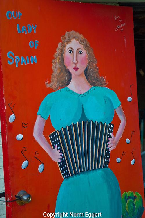 Painting on the Boulevard Diner door