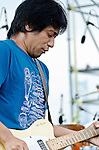 Takeshi Shimmura on guitar with the Mia Borders band during the Backyard BBQ concert at Wiggins Park in Camden, NJ - Labor Day Weekend, 2012.