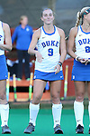 16 October 2015: Duke's Savannah Story. The University of North Carolina Tar Heels hosted the Duke University Blue Devils at Francis E. Henry Stadium in Chapel Hill, North Carolina in a 2015 NCAA Division I Field Hockey match. UNC won the game 2-1.
