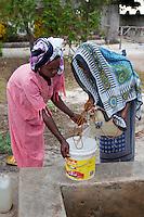 Jambiani, Zanzibar, Tanzania.  Women at the Well.