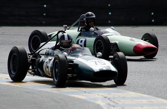 Historic Formula race cars