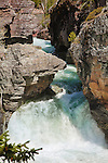 Waterfalls through the gorge on the north fork of the blackfoot river in montana