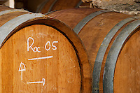 Roc 2005. Domaine Cazeneuve in Lauret. Pic St Loup. Languedoc. Barrel cellar. France. Europe.