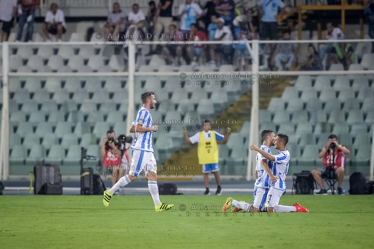 Gianluca Caprari (Pescara) after the second Goal during the Italian Serie A football match Pescara vs SSC Napoli on August 21, 2016, in Pescara, Italy. Photo by Adamo Di Loreto