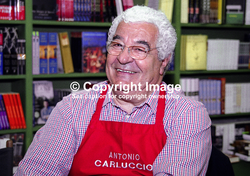 Antonio Carluccio, British TV chef and author. Taken at or during Hay Festival. Ref: 200005266.<br />