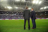 FUSSBALL   1. BUNDESLIGA   SAISON 2011/2012   SUPERCUP FC Schalke 04 - Borussia Dortmund            23.07.2011 Trainer Ralf RANGNICK (li) und Sportdirektor Horst HELDT (re, beide FC Schalke 04)