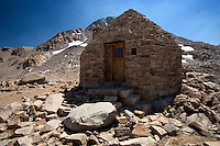 John Muir hut at 11,955 ft along the John Muir Trail in the eastern Sierras