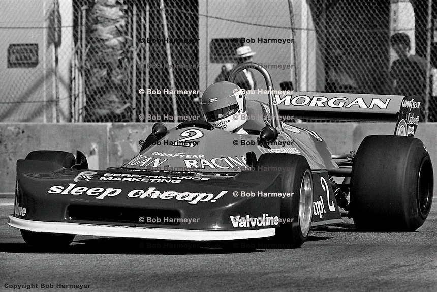 LONG BEACH, CA - APRIL 2: Bobby Rahal drives a Ralt RT1 during practice for the Formula Atlantic race on April 2, 1978, at the Long Beach temporary street course in Long Beach, California.