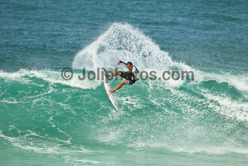 North Shore/Oahu/Hawaii (Saturday, December 3, 2011) – Tiago Pires (PRT) during a free surfing session in 4'-6' waves at Off The Wall  and Backdoor on the North Shore.. Photo: joliphotos.com