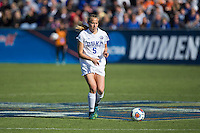Cary, North Carolina - Sunday December 6, 2015: Rebecca Quinn (5) of the Duke Blue Devils during first half action against the Penn State Nittany Lions at the 2015 NCAA Women's College Cup at WakeMed Soccer Park.  The Nittany Lions defeated the Blue Devils 1-0.