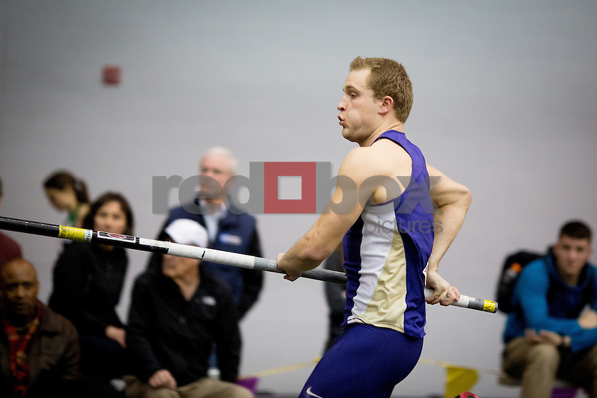 The University of Washington track team hosts the 2014 Husky Classic at the Dempsey Indoor Center on Februrary 15, 2014.(Photo by Scott Eklund/Red Box Pictures)