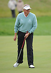 Colin Montgomerie is not amused after narrowly missing a putt on the 3rd Green, after his tee shot went into the waterPGA Wales Open 2009 at the Celtic Manor, Newport. © Ian Cook IJC Photography, 07599826381,  iancook@ijcphotography.co.uk, www.ijcphotography.co.uk