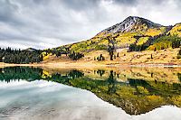 Trout lake Reflection.  Trout Lake is a pretty little spot between Telluride and Rico in the San Juan mountains of southwest Colorado