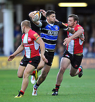 Matt Banahan takes on the London Welsh defence. J.P. Morgan Premiership Rugby 7s match, between London Welsh and Bath Rugby on August 3, 2012 at the Recreation Ground in Bath, England. Photo by: Patrick Khachfe / Onside Images